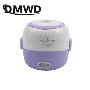 DMWD Мини рисоварка Теплоизоляция Электрический ланч бокс 2 слоя портативный Пароварка многофункциональный автоматический контейнер для еды ЕС