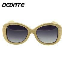 BEDATE Wood Sunglasses Popular Women Sunglasses  Polaroid Sun glasses Retro Women Eyewear Sun Glasses Shades lunette oculo G008A