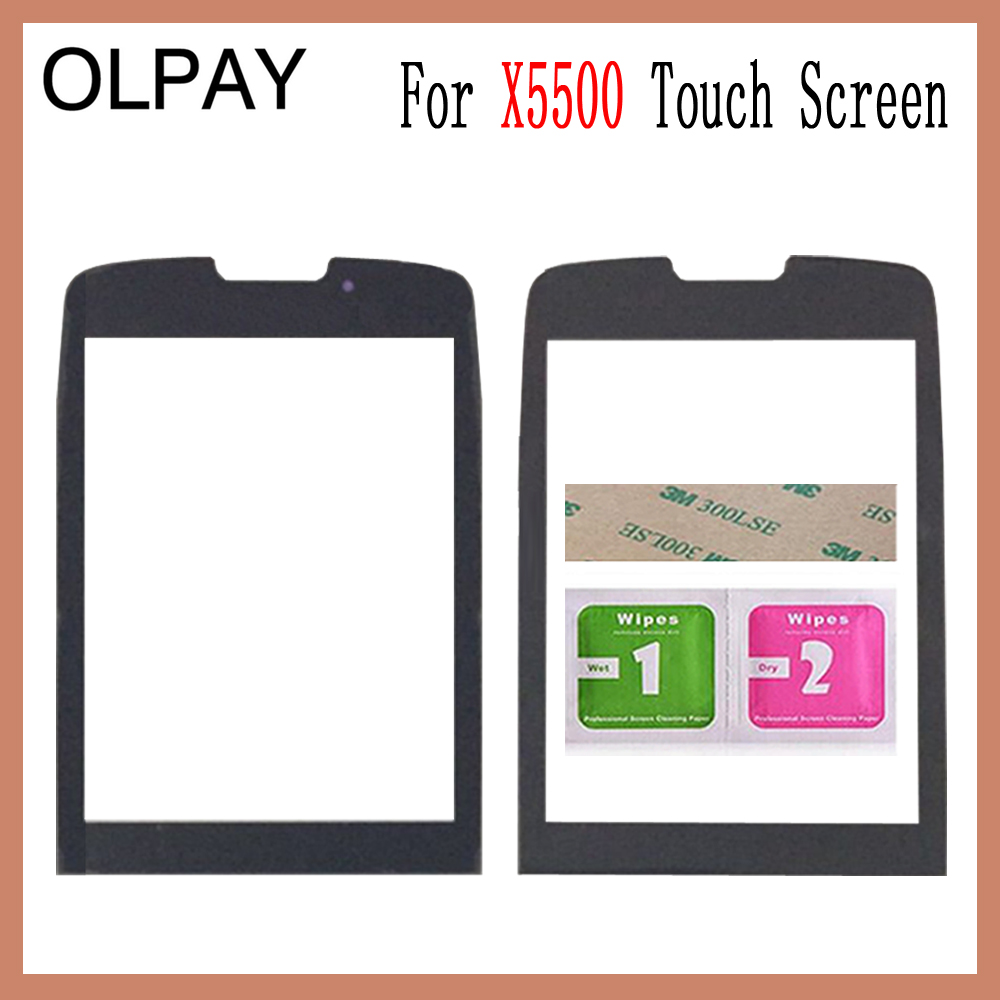 OLPAY 2.6 Tested Front Outer Glass For Philips Xenium X5500 Not Touch Screen Digitizer Panel Lens Sensor Free Adhesive+WipesOLPAY 2.6 Tested Front Outer Glass For Philips Xenium X5500 Not Touch Screen Digitizer Panel Lens Sensor Free Adhesive+Wipes