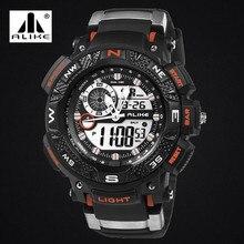 POR IGUAL Del Relogio masculino Estilo G de los Deportes de Choque Impermeable Al Aire Libre Relojes Hombres de Cuarzo Horas Reloj Militar Digital LED Reloj de Pulsera