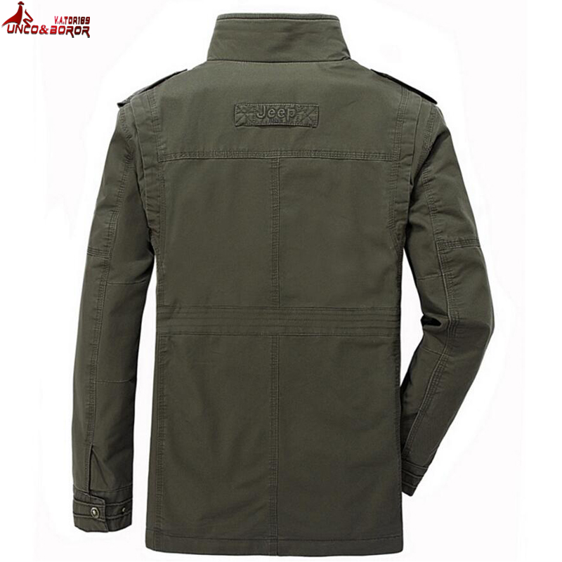 Image 4 - plus size 6XL 7XL 8XL 100% cotton Jackets Men Military Cargo Jackets Tactical Combat Business male Coat Pilot Bomber Jackets men-in Jackets from Men's Clothing