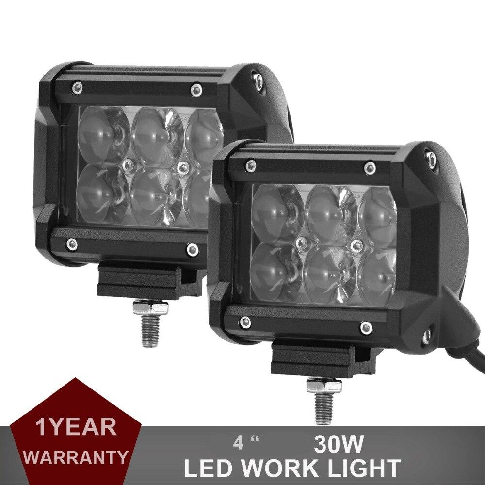 4 pollici 30w LED luce di lavoro fuoristrada guida fendinebbia auto moto bicicletta SUV ATV 4WD 4X4 UTE auto vagone pickup camper faro