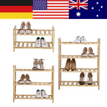 2/3/4 Tier Wooden Shoe Rack Standing Shelf Entryway Hallway Storage Unit Organizer Shoe Storage Rack Living Room Shoe Cabinet(China)