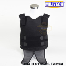 2-Concealable Under-Shirt Body-Armor Bullet-Proof Covert Ballistic Militech Twaron Aramid
