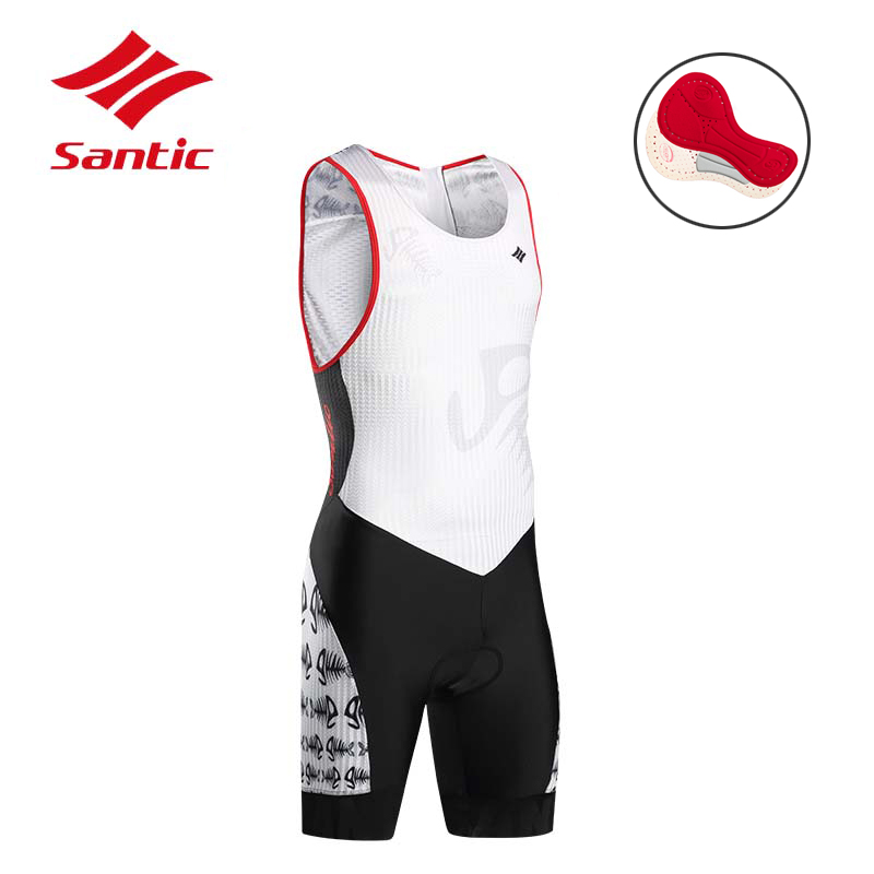 d75d478aa Santic Cycling Jersey Overalls with Pad Men 2018 Summer Breathable Cycling  Clothing Bike Jersey Set pro