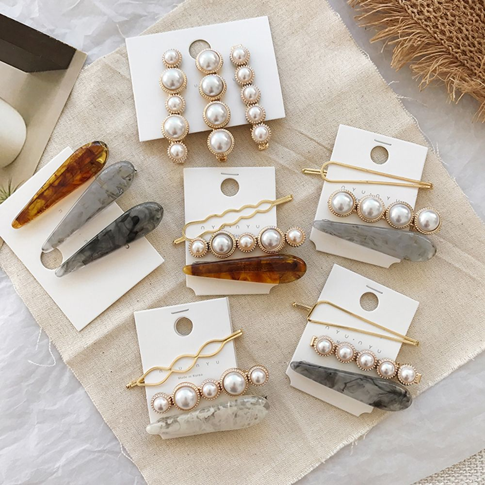 BSA_AOMU-1-Set-Design-Korea-Japan-Metal-Gold-Pearl-Irregular-Acetate-Hair-Clip-for-Women-Girl