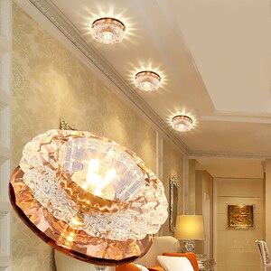Image 1 - LAIMAIK kryształowe oświetlenie sufitowe 3W oświetlenie halowe AC90 260V lampka na ganek kryształowa lampa ledowa dynia LED sufitowe przejście światła korytarz