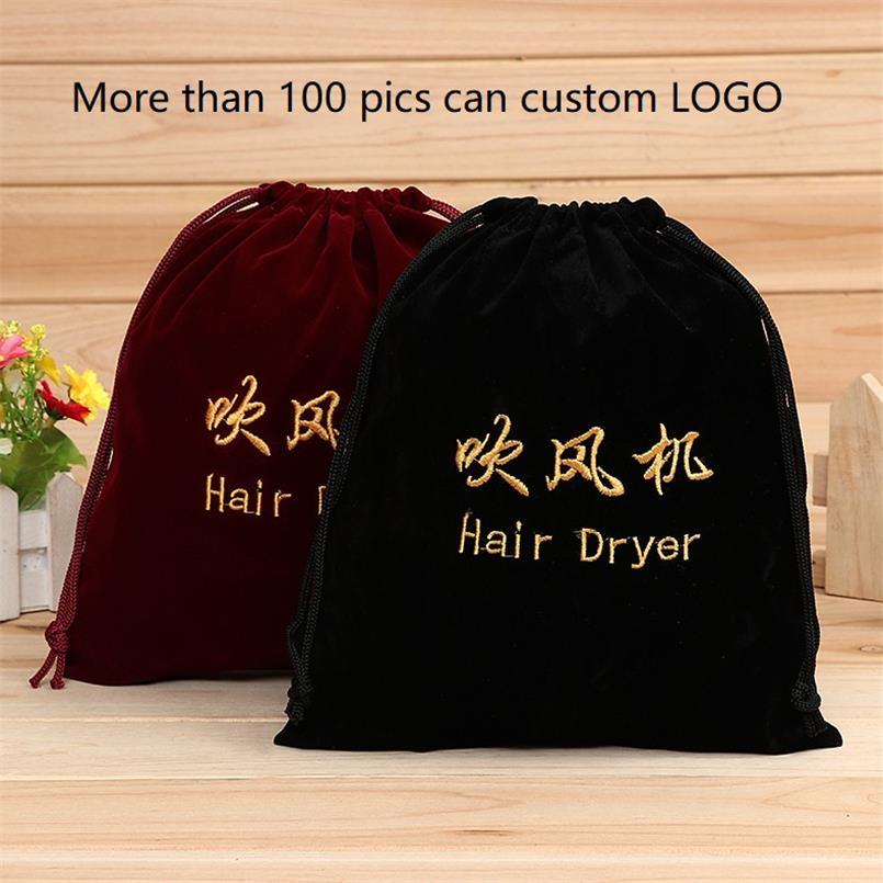 BANGE Hotel Hair Dryer Flannel Drawstring Bag Embroidery Letter Organizer Bags Can Custom Logo Bolsos Bolsas