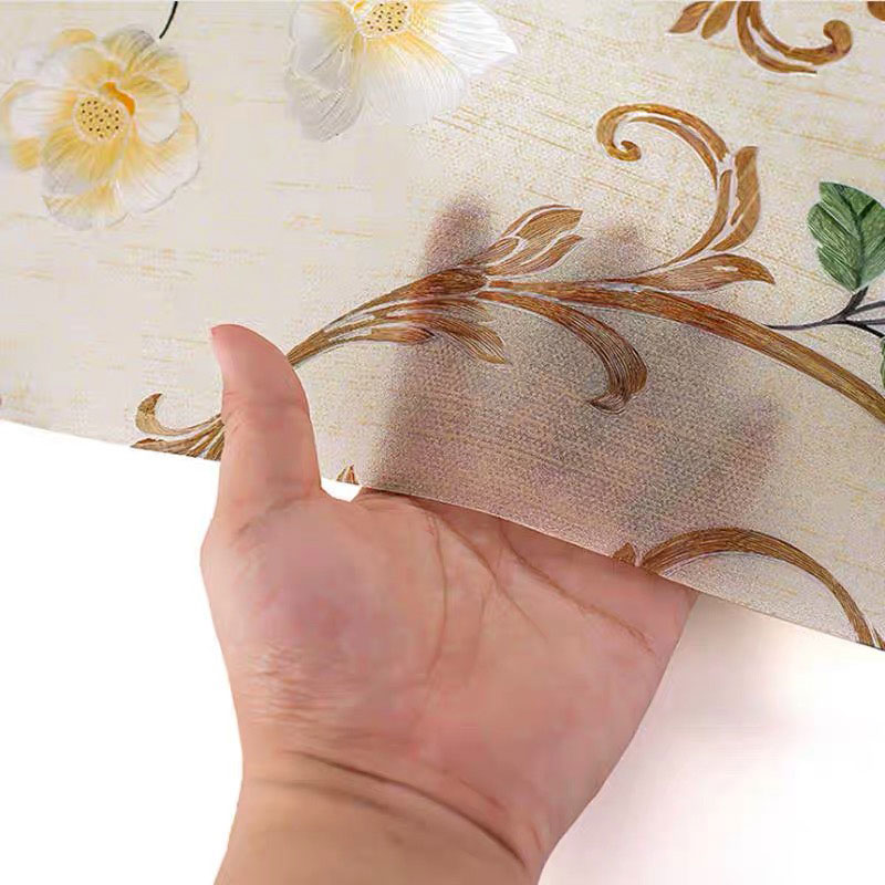 Width 90cm 3D peony Glass Film embossing Stained Window Sticker Privacy Static Self Adhesive Home decorative film for furniture in Decorative Films from Home Garden