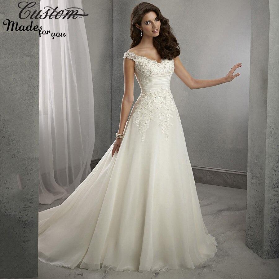 Euro Type Formal Elegant Bridal Gowns Cheap China Lace Vestido de ...