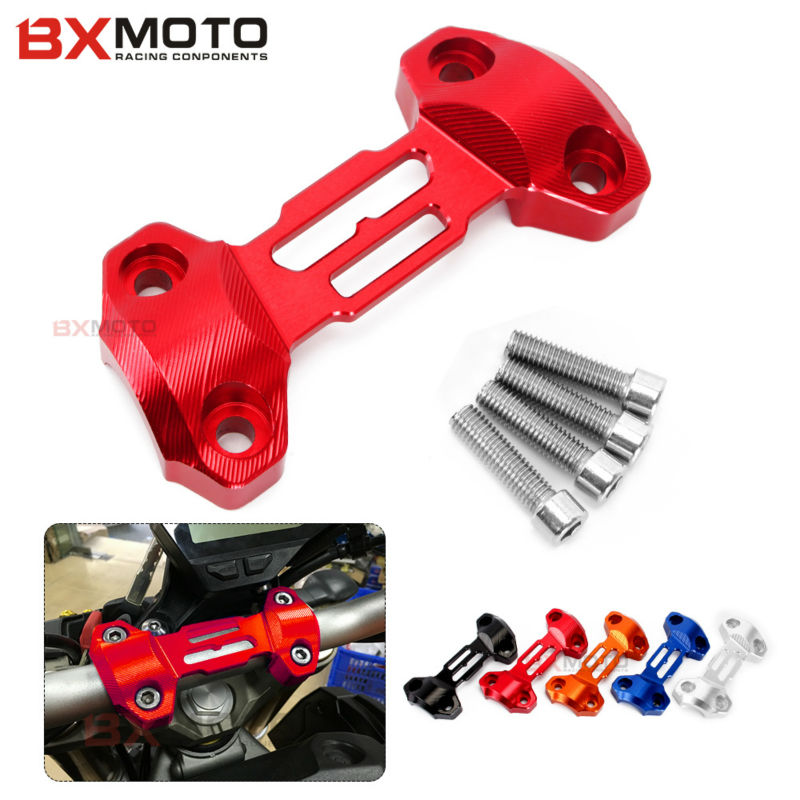 Hot Sale Motorcycle Accessories Cnc Handlebar Risers Top Cover Clamp Red For Yamaha Mt09 Fz9 2013 2014 2015 Special Offer bjmoto hot sale orange motorcycle cnc aluminum handlebar risers top cover clamp fit for ktm duke 390 200 125 dirt bike