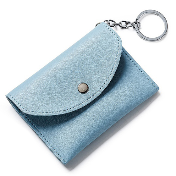 FGGS-Cute Coin Purse Small Womens Lovely Wallet With Key Ring PU Leather Coins Wallets For Girls Money Purse Mini Card Holder
