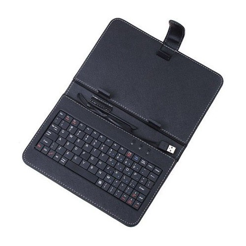 2 pcs/lot Synthetic Leather Case with USB Keyboard and Kick Stand for 8 Android 2.2 Tablet (PPC