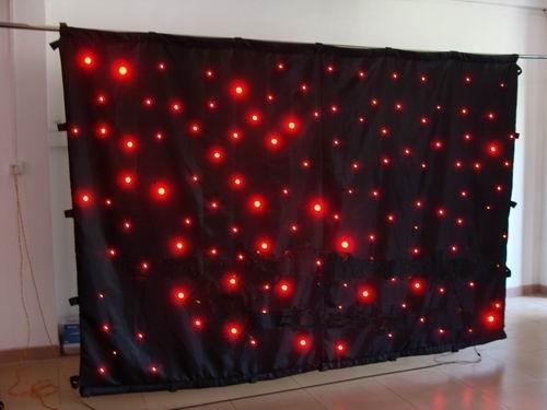 Cheap Price 2M*6M&6M*2M High Quality RGBW/RGB Color Curtain LED Star Cloth With Controller 90V-240V Light Curtain