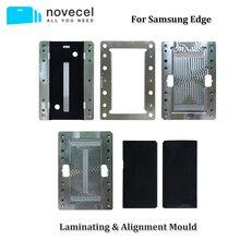 لسامسونج S8 S9 S10 S20 الترا زائد S10E S7 شاشة LCD OCA المستقطب محاذاة و قالب الترقق ل Novecel Q5 YMJ تغليف