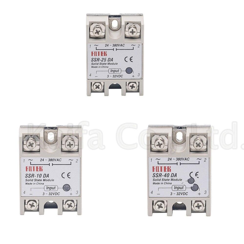1pcs solid state relay SSR-25DA 25A  SSR-10DA SSR-25DA SSR-40DA 5-24VDC TO 24-380V AC SSR 25DA,6-20mA