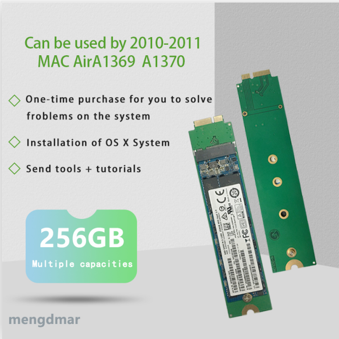 NEW 256GB SSD For 2010 2011 Macbook Air A1369 A1370 SOLID STATE DISK MC503 MC504 MC505