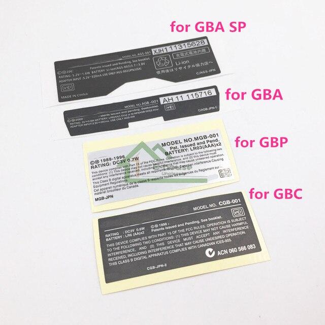 Cho GBA/GBA SP/GBC Tay Cầm Chơi Game Mới Lables Lưng Miếng Dán thay thế cho Gameboy Advance/SP/ màu sắc