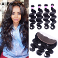 Malaysian Body Wave With Closure 13x4 Ear To Ear Lace Frontal With 4 Bundles Human Hair Malaysian Virgin Hair With Closure