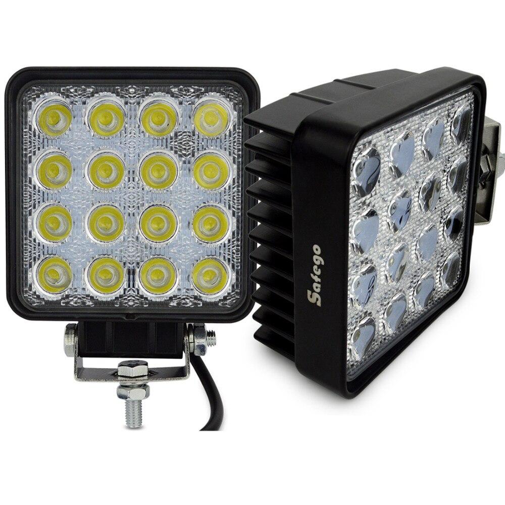 2X 4INCH car 48W LED WORK light 12V led tractor work lights led driving light off road 4X4 fog lamp 48W led WorkLight spot flood
