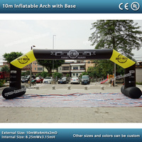 10mWx4mH inflatable arch with base advertising Inflatable events archway custom inflatable arch inflatable start finish arch