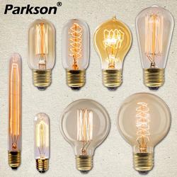 Электрическая лампочка эдисона светильник лампочка E27 40 Вт 220 В ампулы Lampara Винтаж лампа Эдисона лампа накаливания светильник лампа для деко...