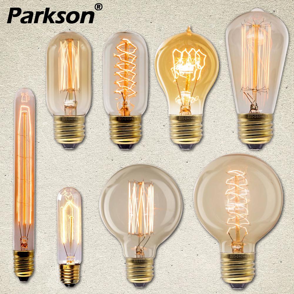 Edison Light Bulb E27 40W 220V Ampoule Lampara Vintage Bulb Edison Lamp Incandescent Filament Light Bulb For Decor Retro Lamp