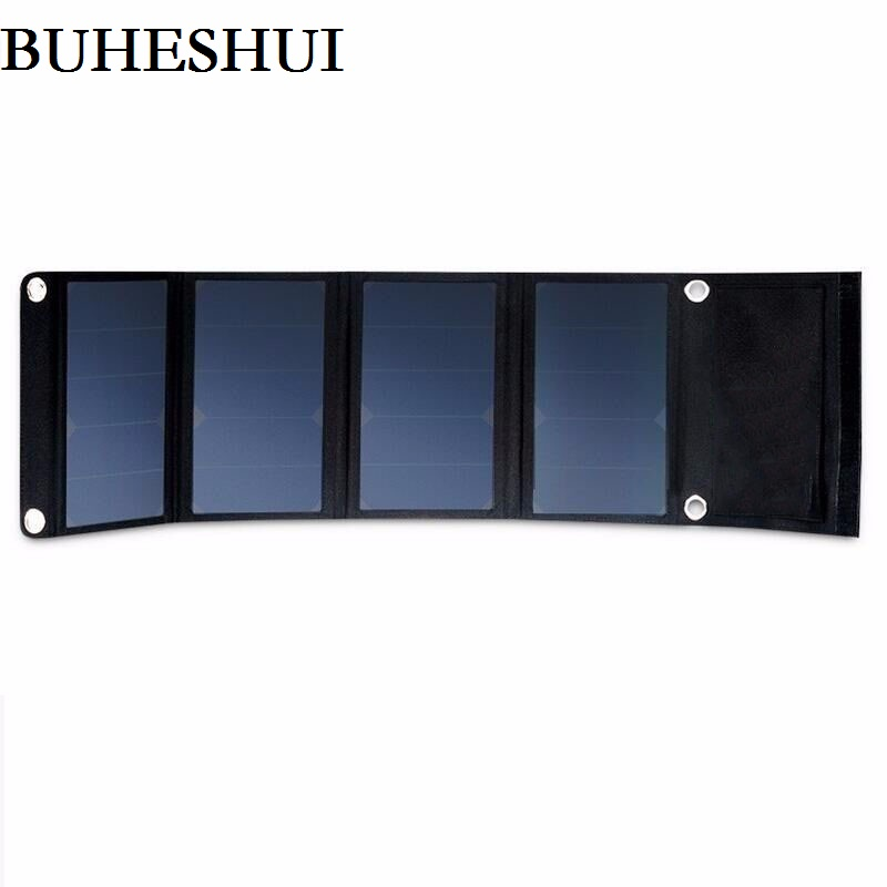 BUHESHUI 24W Solar Charger Dual USB Solar Panel Charger For Iphone Mobile Power Bank Battery Charger