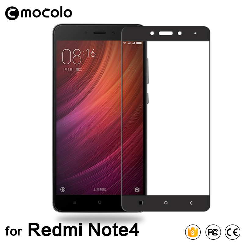 f1e9019eef3 100% Original Mocolo Silk Printing Full Cover Tempered Glass Protector for Xiaomi  Redmi Note 4 Glass Film for redmi note4-in Phone Screen Protectors from ...