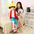 Пункт продажи 1 шт. 80 см Мультфильм Suffed Куклы Обезьяна D Луффи Японии Аниме Игрушка, Kawaii Плюшевые Игрушки Для Детей