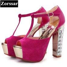 Size 33-43 fashion rhinestone Summer women shoes Peep toe high heel sandals blue 2017new womens pumps heels luxury T-strap shoes