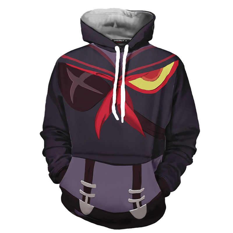 Anime Töten La Töten Matoi Ryuuko 3D Gedruckt Hoodies Kiryuuin Satsuki Cosplay Zipper Jacke Sweatshirts Unisex Pullover Mantel