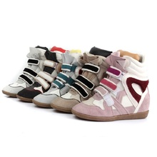 2016 New Korea Spring And Autumn Genuine Leather Women Fashion Casual Shoes For Woman High-top Women Shoes