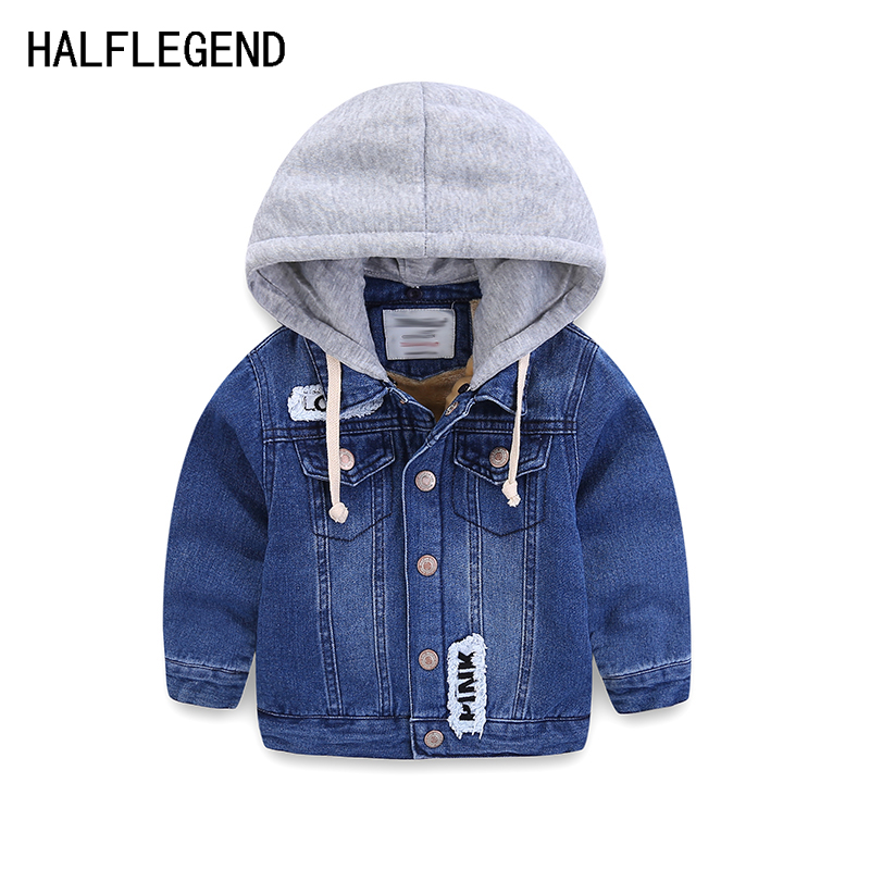 Coat for boy Children's outerwear boys winter jacket thick denim jacket for baby boys 2-3-4yrs warm clothes for boys 8-9-10years high quality print denim jacket for boys jacket clothes for teens ripped denim coats spring boys outerwear coat for boys