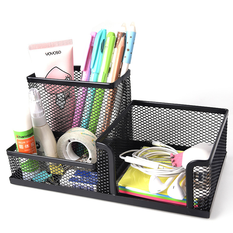 Creative Metal Pen rack Pencil Case Home Storage Student Office Supplies Stationery Makeup organizers Table Accessories