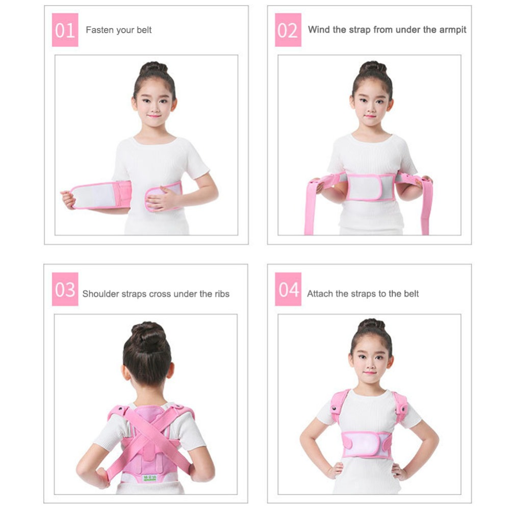 Image 5 - Posture Corrector Breathable durable comfortable Back Shoulder Lumbar Waist Supporting Correction Straighten Upper Children JD19Braces & Supports   -