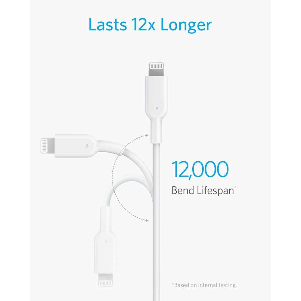 Кабель Anker USB C для Lightning, сертифицированный Apple MFi, PowerLine II для iPhone 11/X/XS/XR/XS Max / 8/8 Plus, поддерживает доставку электроэнергии