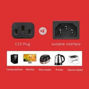 Image 3 - GCX UL موافقة التيار المتناوب سلك الطاقة NEMA 10A 125 فولت 3 الشق C13 تمديد OFC كابل الطاقة 3 دبوس ل جهاز كمبيوتر شخصي مراقب طباخ 1.8 متر 3m