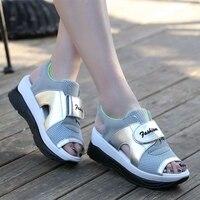 Platform Sandals Women Summer Sport Casual Sandals Mesh Breathable Shoes Ladies Platform Sandals Wedges Women Femme
