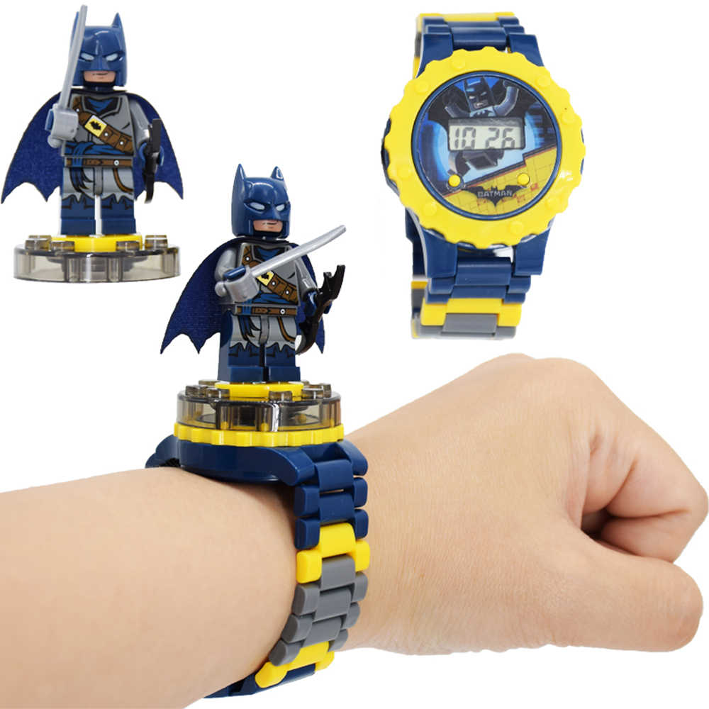 Kids Toy Watch Bat Iron Man Marvel Avengers Electronic Gadgets Princess Girls Birthday Gift Blocks Education Toys for Children