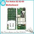 Para nokia x2 x2-00 desbloqueado telefone celular origianl telefone celular motherboard principal placa lógica circuitos inglês ou língua russa