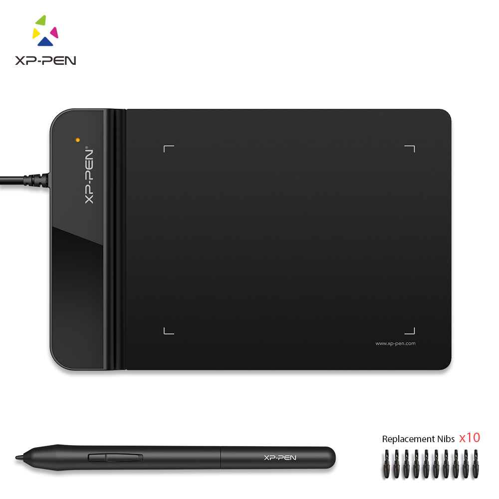 XP-Pen G430S Drawing tablet Graphic tablet 4 x 3 inch Graphic Drawing for Game OSU and Battery-free stylus- designed! Gameplay