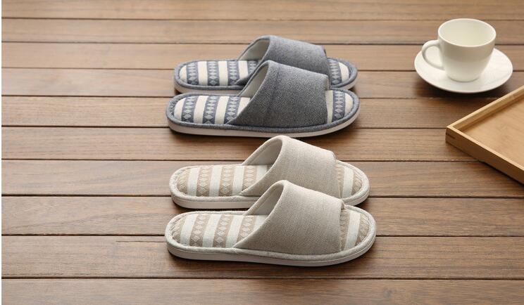 2019 Men Slippers TX315 Slippers Khaki Blue Cotton Slippers For Men Shoes High Quality Home Slippers