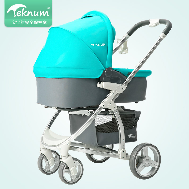 Teknum Baby Carriage Cart Can Sit, Lie Down, Fold High Landscape, Light Newborn Pushes Carriage. sometimes i lie