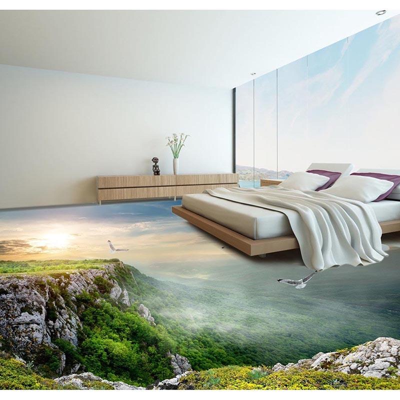 Floor Wallpaper Amazing Landscape Room Decor Living