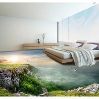 Piso Wallpaper Paisaje Increíble Decoración de la Habitación del Dormitorio Sala de estar Piso 3D Mural PVC autoadhesivo Papel Tapiz Mural Moda #231