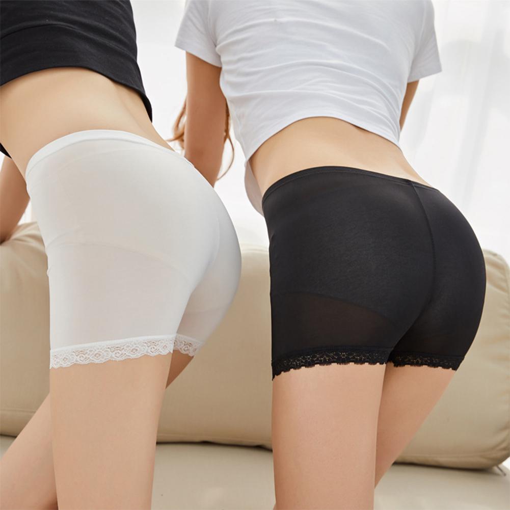 Oversized Women Summer Sweet Safety Shorts Pants High Waist Panties Seamless Anti Emptied Boyshorts Pants Lace Underwear