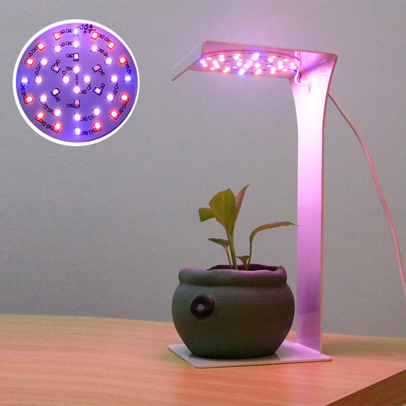 Phyto Lamp For Plants 15W LED Grow Light With Timer Full Spectrum Fitolampy Red Blue White IR VU Light For Succulents Desk Lamp