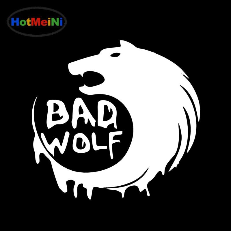HotMeiNi 19x18cm Dr Who Bad Wolf Car Vinyl Decal Car Sticker 150mm Jap Black/Sliver car