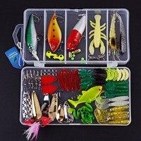 סגנון 4 חדש רב צבעים מעורבים פלסטיק פיתוי דיג מתכת ערכת דיג Wobbler פיתוי רך פיתיון כף pesca iscas artificias